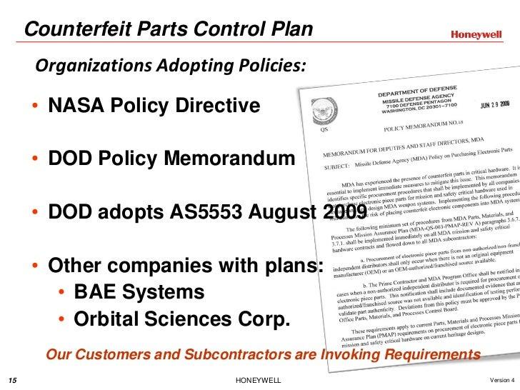Counterfeit Electronics Parts Honeywell