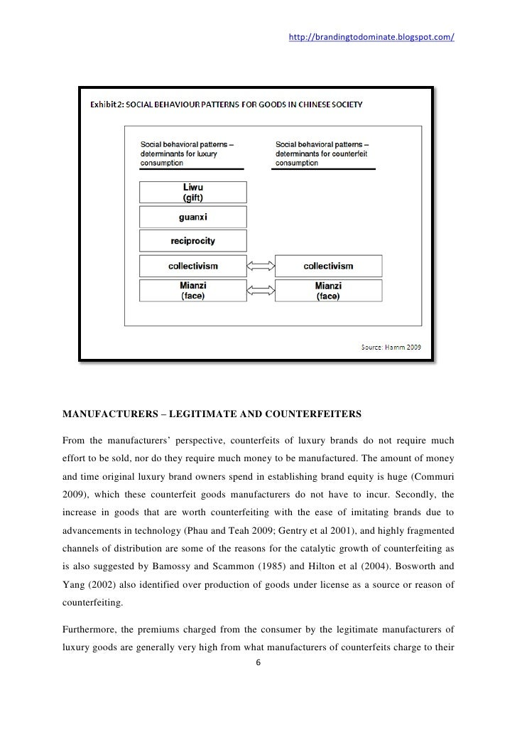factors influencing buying behaviour of counterfeit luxury products Of intents of counterfeit items consumers and the factors that influence the attitude  in chinese society the attitudes toward counterfeit luxury.