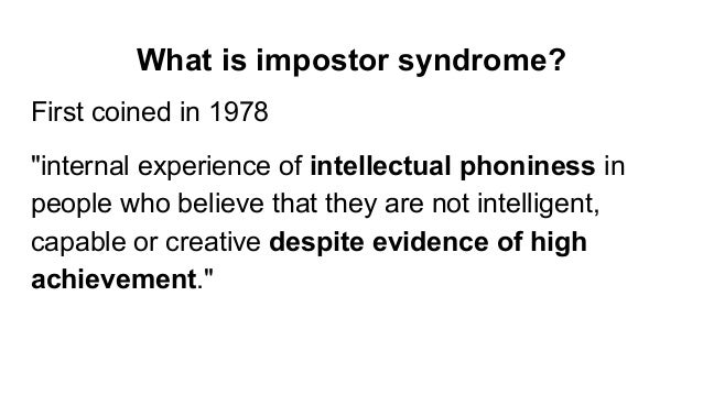 Countering impostor syndrome culture Slide 3
