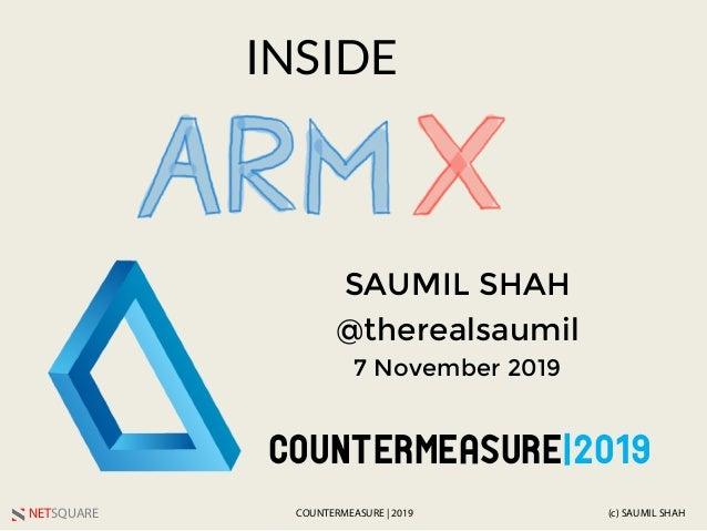 NETSQUARE (c) SAUMIL SHAHCOUNTERMEASURE | 2019 INSIDE SAUMIL SHAH @therealsaumil 7 November 2019 COUNTERMEASURE|2019