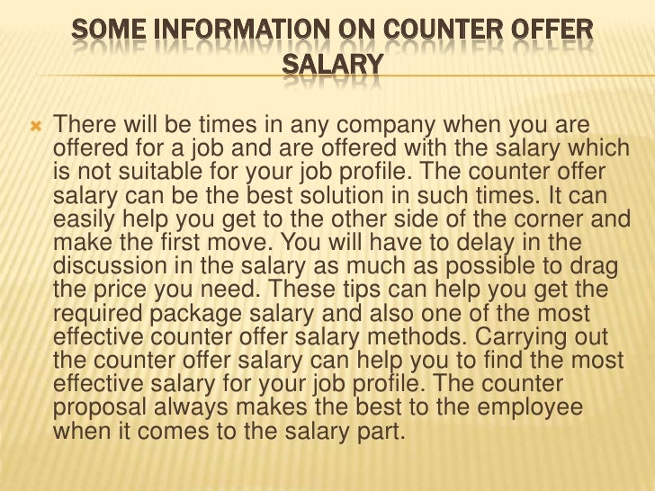 counter offer job