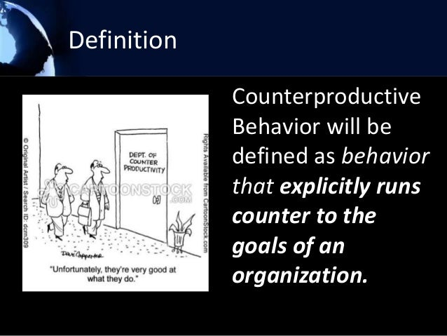 counterproductive behavior definition