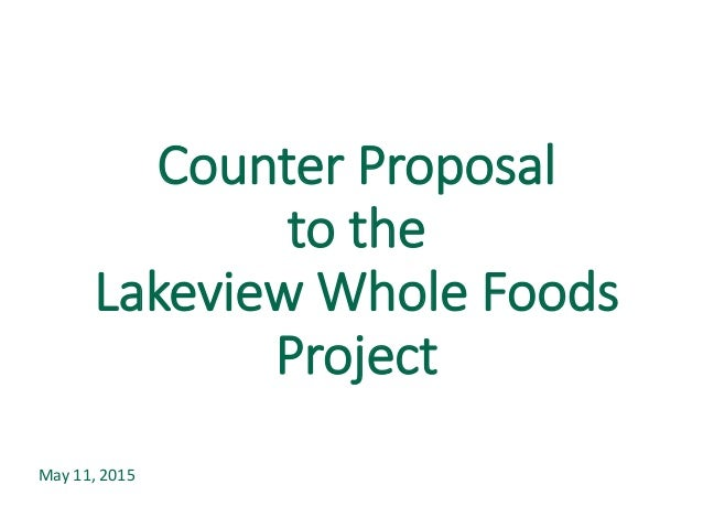 counter proposal