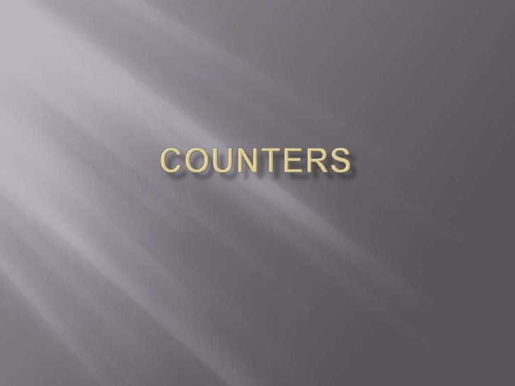 Counters<br />