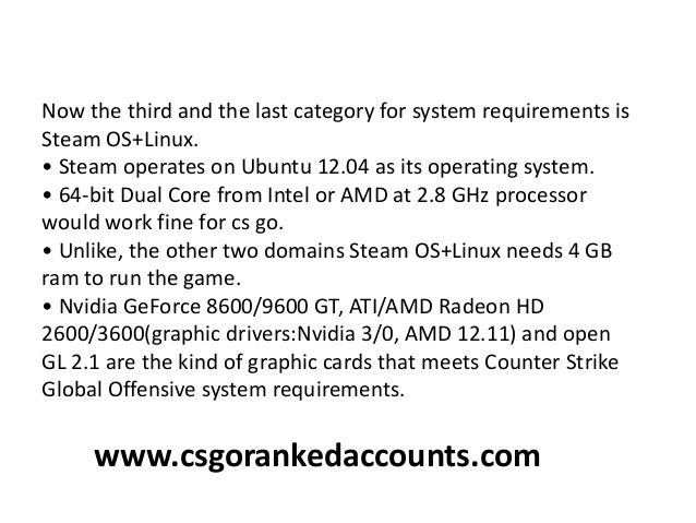 Counter strike global offensive requirements