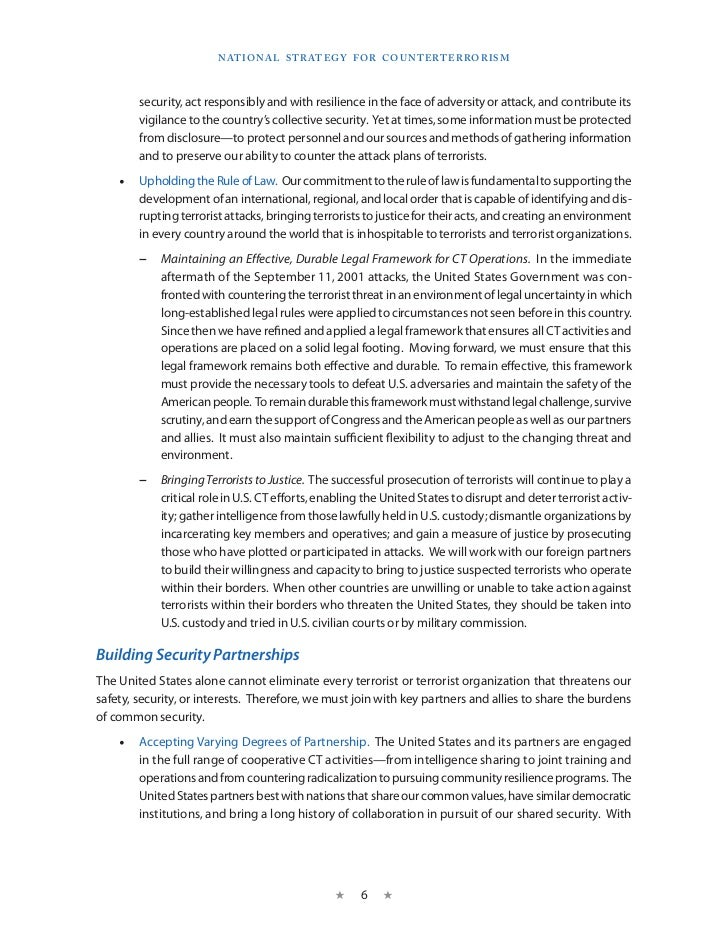 Counterterrorism Strategy