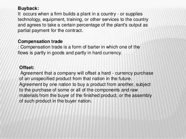 buyback countertrade