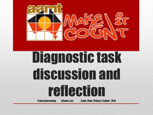 Diagnostic task discussion and reflection Tracey Armstrong  Sharon Lee  Swan View Primary School 2012