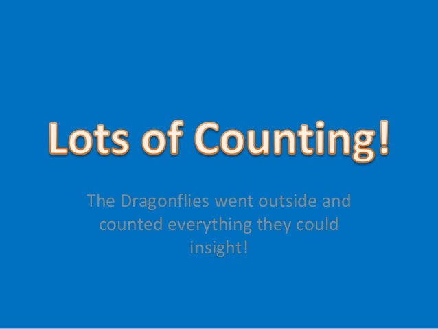 The Dragonflies went outside and counted everything they could            insight!