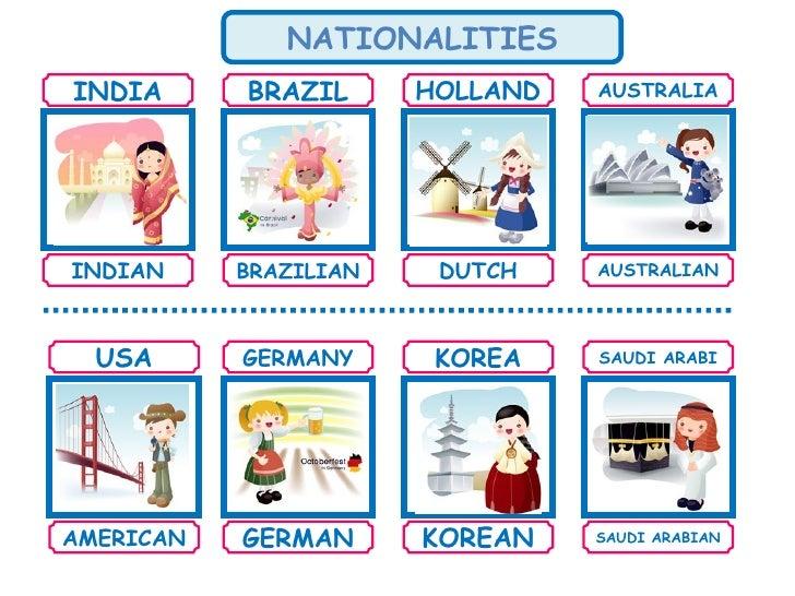 Mundo Intercultural Países Y Nacionalidades En Español: Countries And Nationalities
