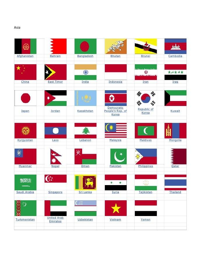 Asia Afghanistan     Bahrain      Bangladesh       Bhutan           Brunei      Cambodia       China    East Timor      In...