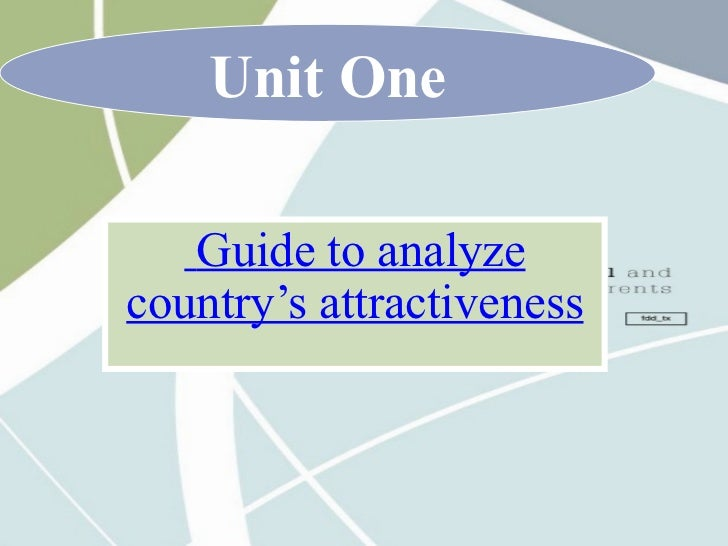 Guide to analyze country's attractiveness Unit One