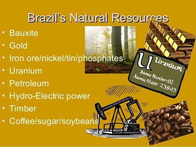 Country Comparisonbrazilcuba - Natural resources of brazil