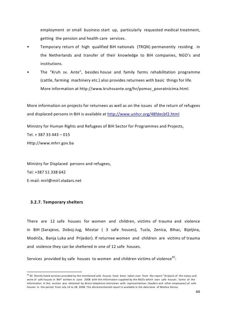 Country Sheet Bosnia English Version Update January 2010 Pdf