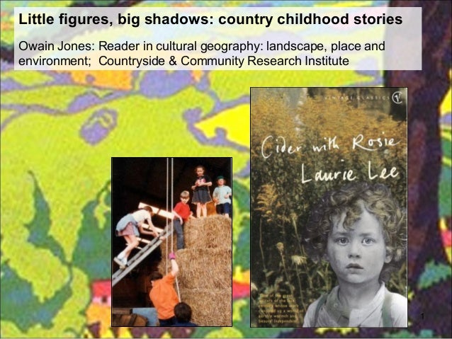 Little figures, big shadows: country childhood storiesOwain Jones: Reader in cultural geography: landscape, place andenvir...