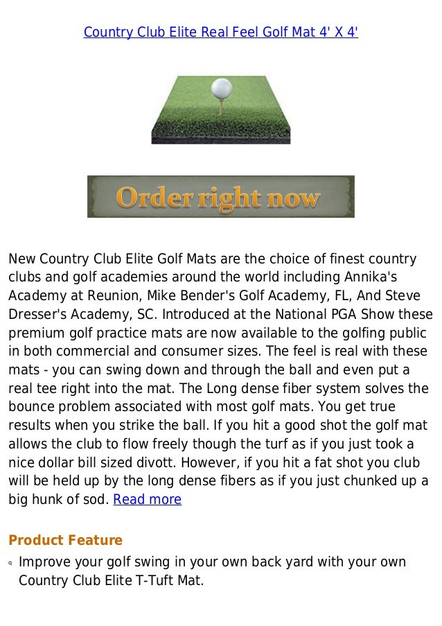 Country Club Elite Real Feel Golf Mat 4 X 4 Best Buy