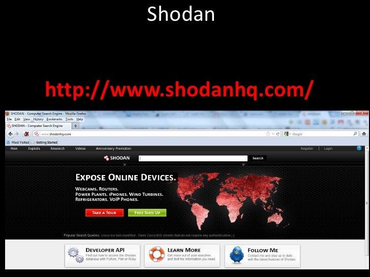 WHITE HAT HACKER: Shodan Queries