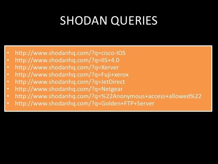 Shodan Blog