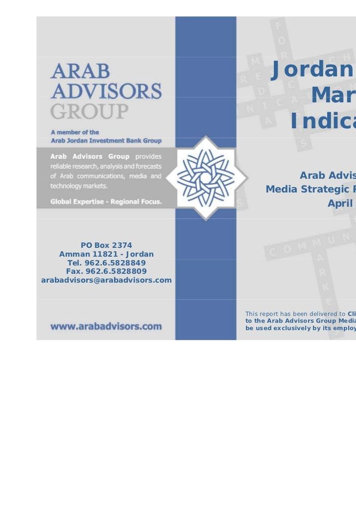 Jordan Media                                           Market                                         Indicators          ...