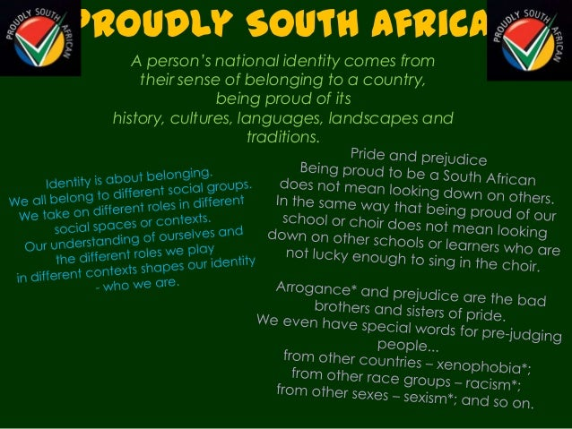 i am proud of south africa essay Free essays on iam proudly south african of which we are justifiably proud air carriers operating into south africa these eight carriers were.