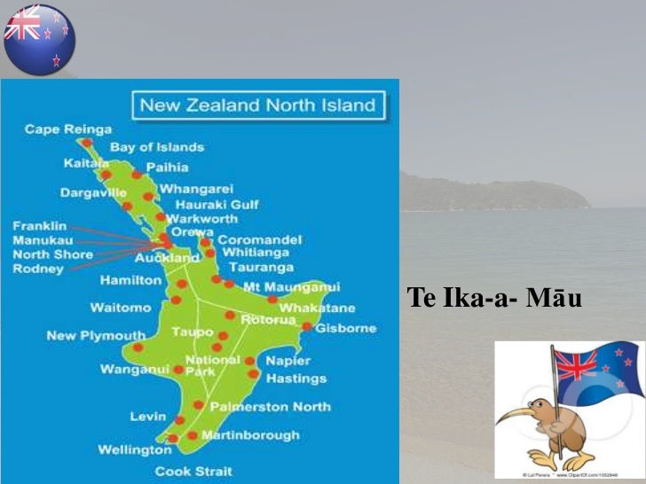 New Zealand Tourist Map North Island.New Zealand Country Presentation