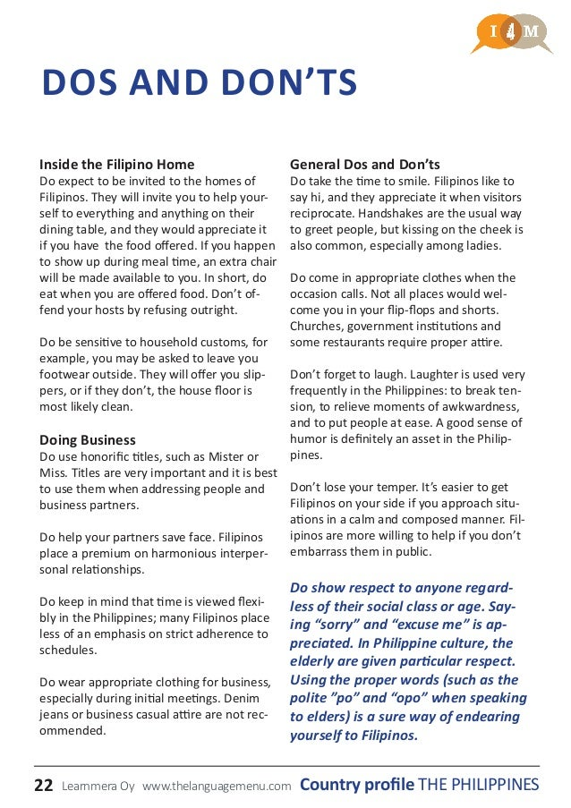 Country profile the philippines 22 inside the filipino stopboris Choice Image