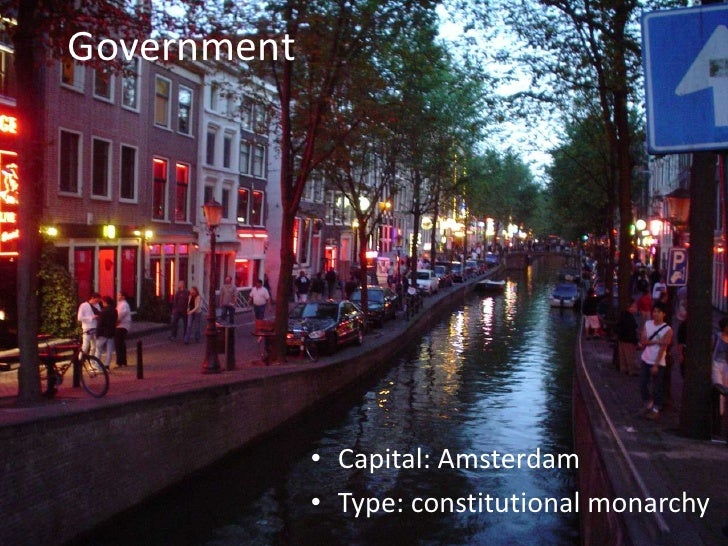 Government<br />Capital: Amsterdam<br />Type: constitutional monarchy<br />