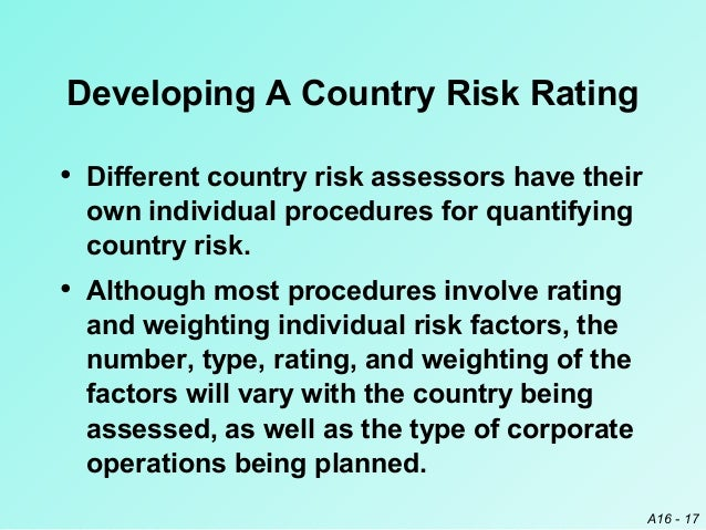 types of country risk