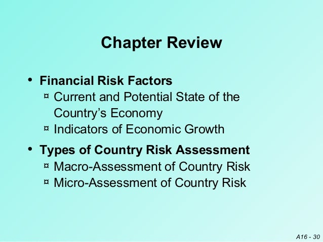 country risk analysis General criteria: country risk assessment methodology and assumptions 1 standard & poor's ratings services is publishing its methodology for determining a country risk assessment, which.