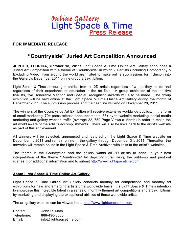 """""""Countryside"""" Juried Art Competition Announced"""
