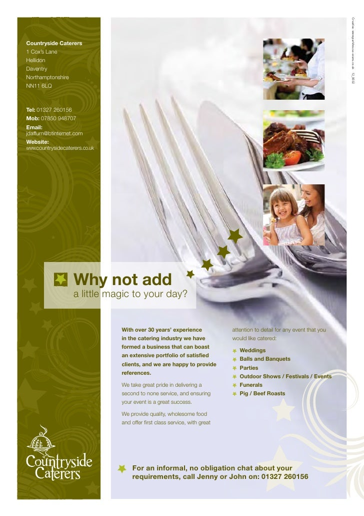 Countryside Caterers Online Brochure 2012