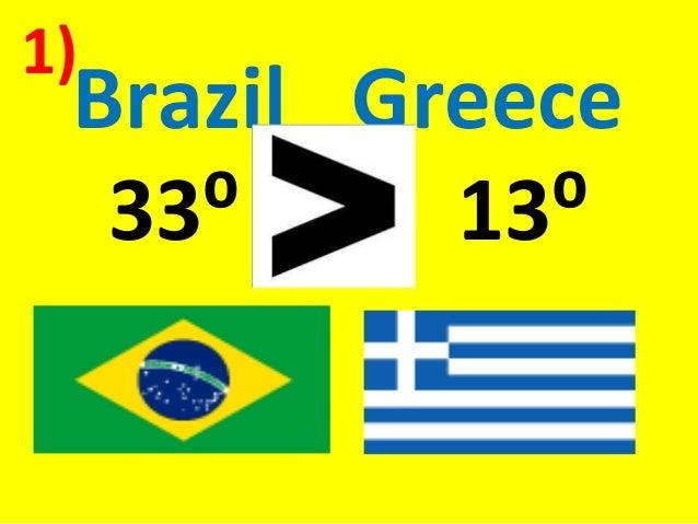 Brazil Greece33⁰ 13⁰1)