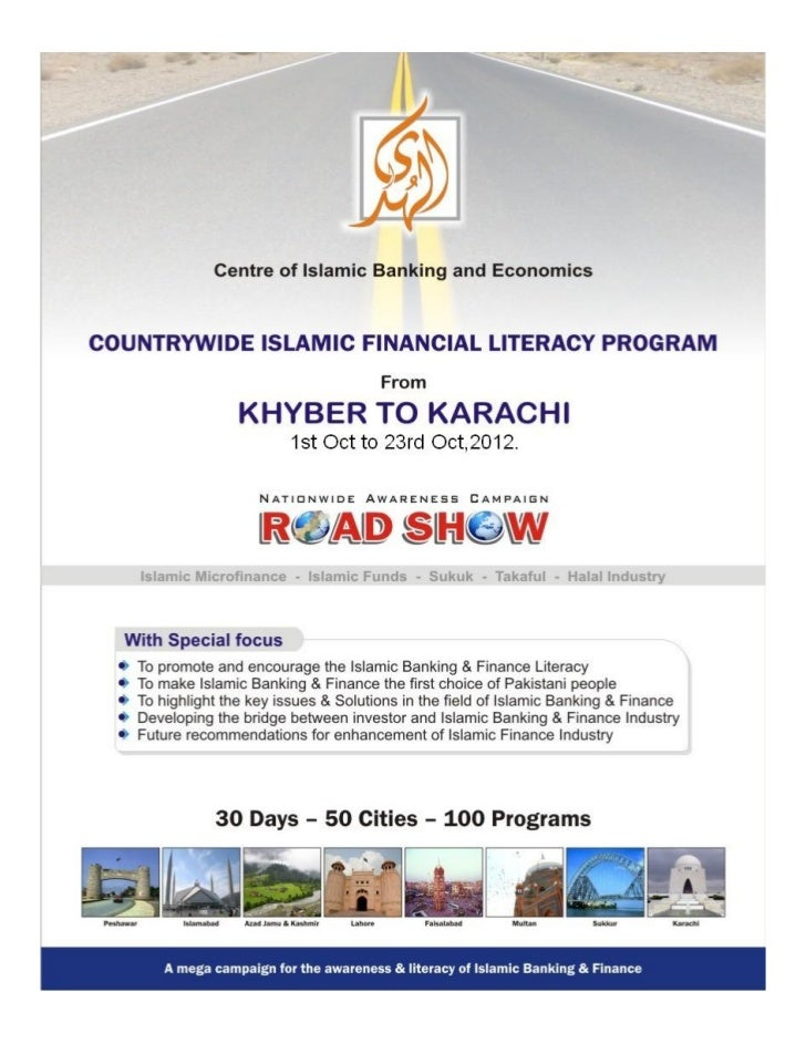 Countrywise islamic finanacial literacy program, khyber to karachi, 2012