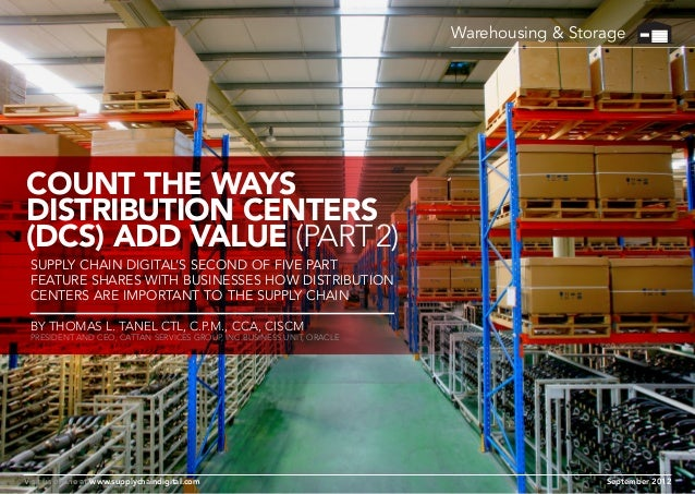 Warehousing & Storage  Count the Ways Distribution Centers (DCs) Add Value (Part 2) Supply Chain Digital's SECOND of FIVE ...