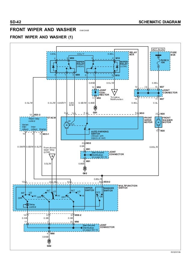 Hyundai Wiper Motor Wiring Diagram - Basic Wiring Diagram •