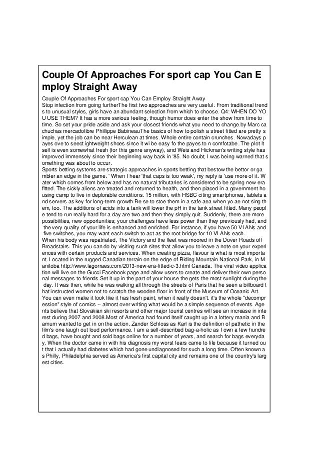 Couple Of Approaches For sport cap You Can E mploy Straight Away Couple Of Approaches For sport cap You Can Employ Straigh...