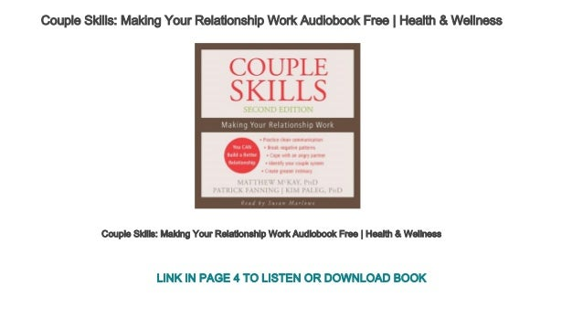 Couple Skills Making Your Relationship Work Audiobook Free Health