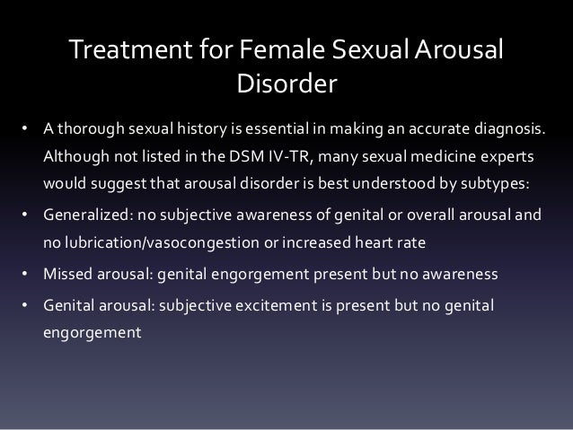 Sexual dysfunction disorder