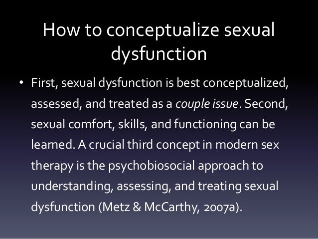 sexual dysfunction counseling