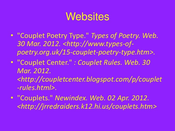 Couplets