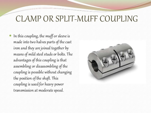 split muff coupling application