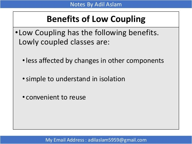 Why a design with low coupling helps maintainability #1