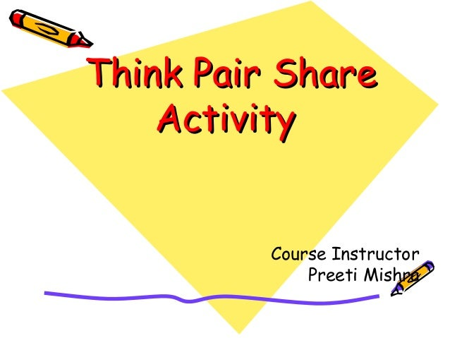 Think Pair ShareThink Pair Share ActivityActivity Course Instructor Preeti Mishra