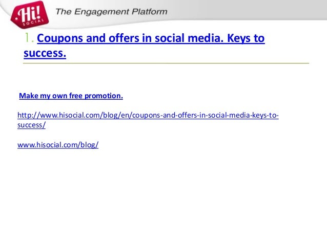 coupon app coupons and offers in social media keys to success