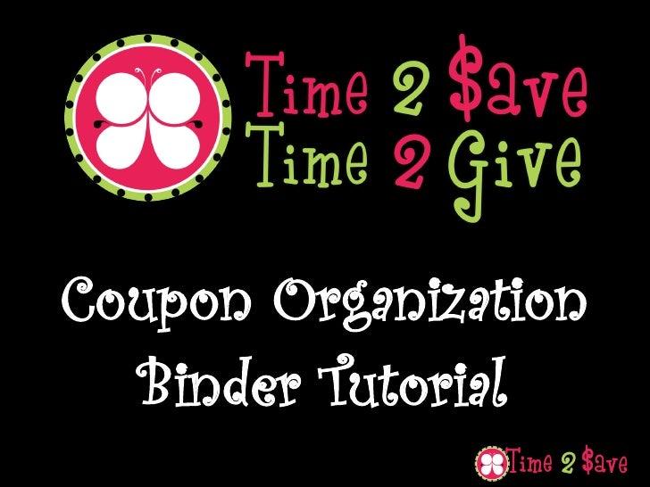 Coupon Organization   Binder Tutorial