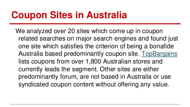 Coupon Sites In Australia Coupon Industry Overview