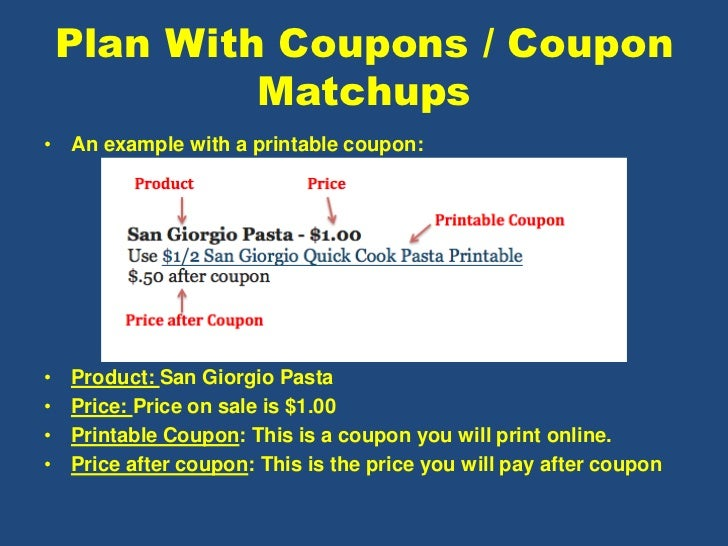 coupon class outline
