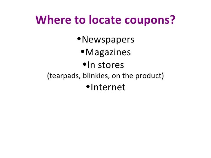 slide coupons