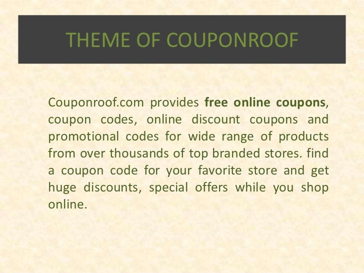 Couponroof.com slideshare Slide 2