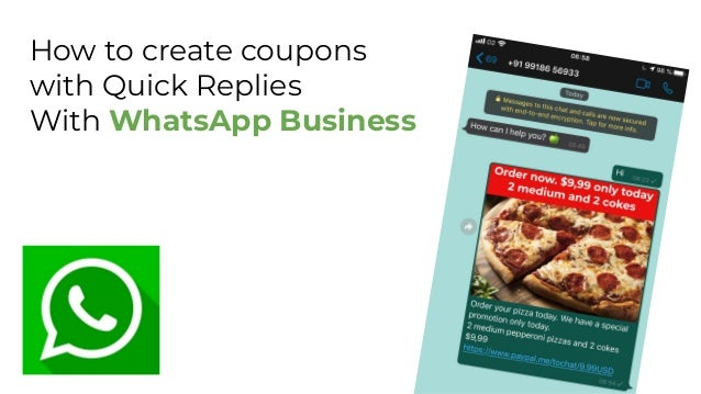 How to create coupons with Quick Replies With WhatsApp Business